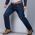 Grandwish hombres Grandes y Altos Pantalones Vaqueros Pantalones de Mezclilla Para Hombre Loose ajuste Los Pantalones Vaqueros Más Tamaño 48 Pantalones Vaqueros Del Estiramiento de Los Hombres Lavados Baggy, PA814