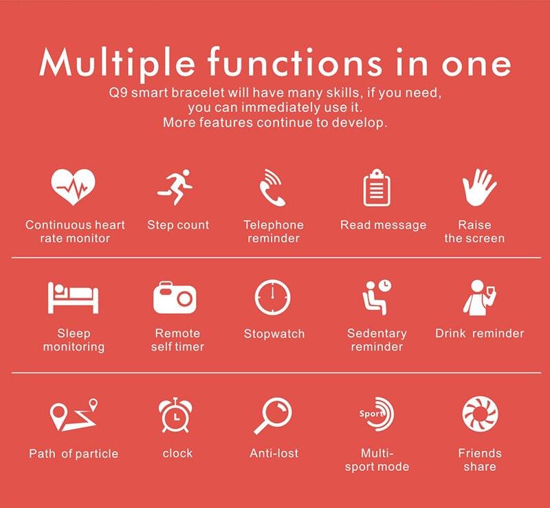 VERYFiTEK Q9 Color Screen Sport Smart Watch Blood Pressure Heart Rate Monitor IP67 Waterproof Smartwatch Men Women Fitness Watch (3)