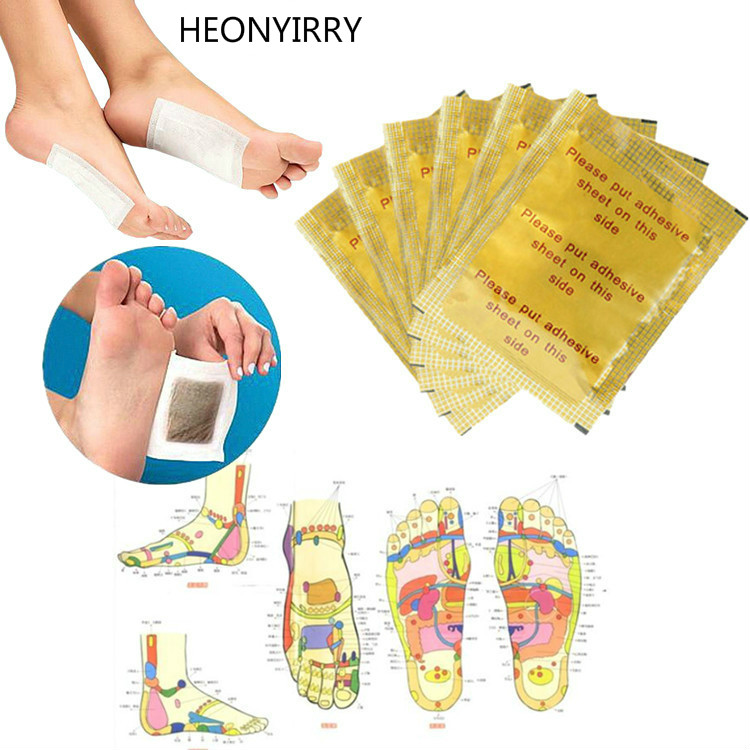 10 Pcs=5Pairs Herbal Detox GOLD Foot Pads Patches Feet Care Medical Plaster Foot Remover Relieving Pain Massager Relaxation