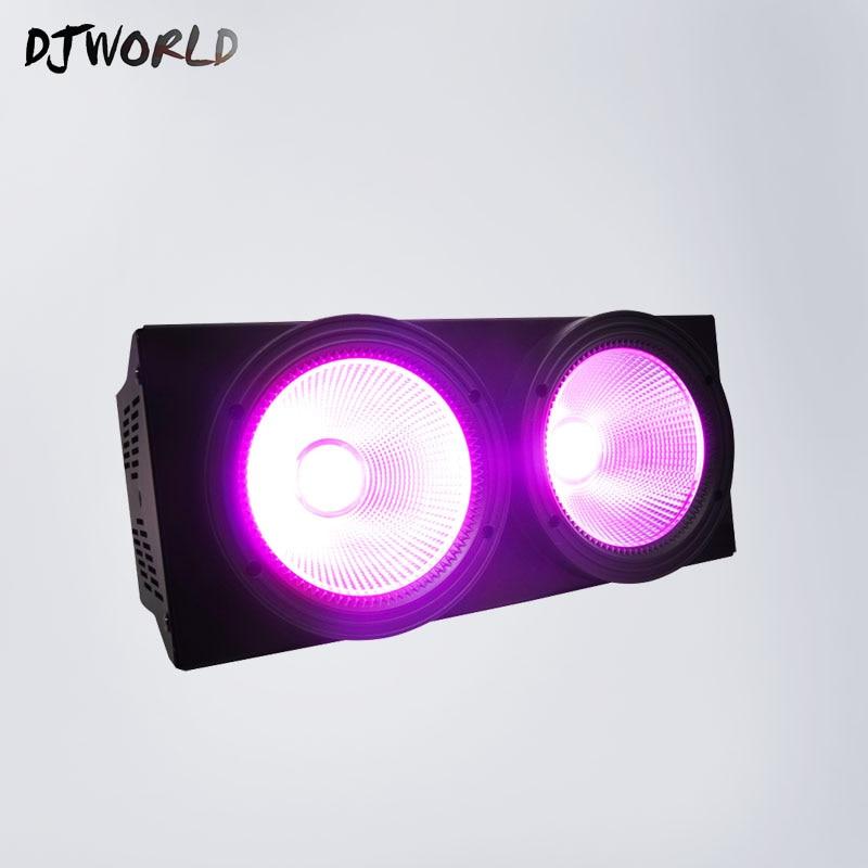 2eyes 2x100W Led Blinder RGBWA+UV 6IN1 DMX LED COB 200W Led Audience Led Par DMX Stage Lighting Effect DJWorld
