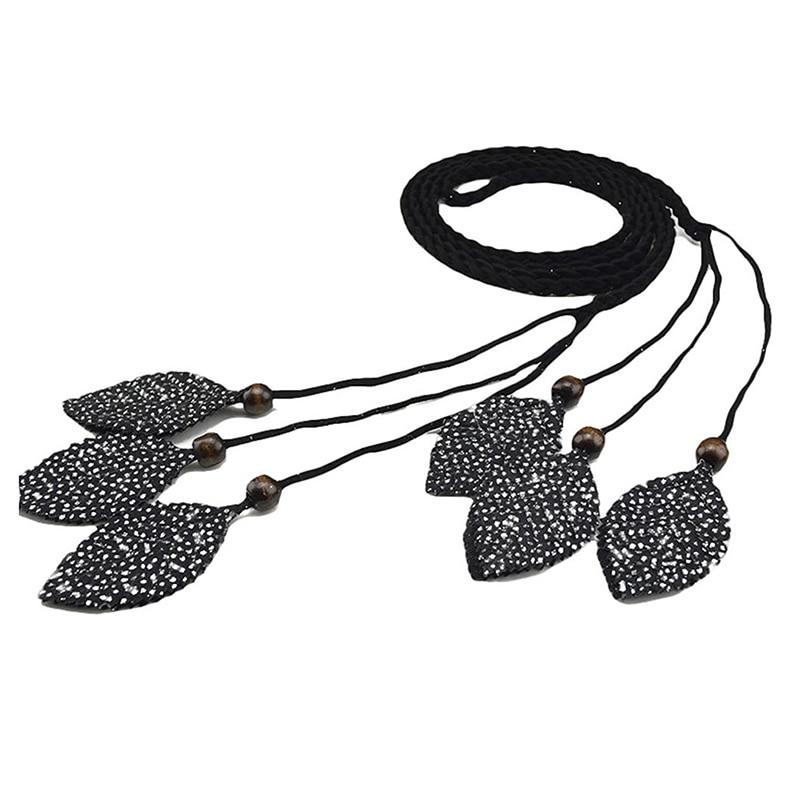 Women Tassels Waist Belt Bohemia Style Braided Coat Dress Waist Belt Accessories
