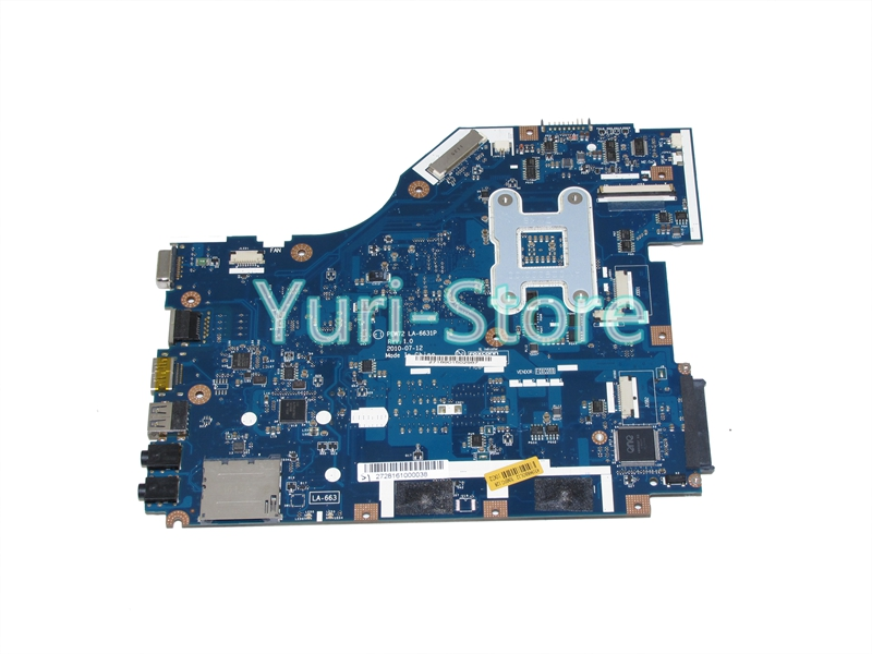 NOKOTION PEW72 LA-6631P Laptop Motherboard for ACER 5336 series MBR4G02001 Mainboard GL40 GMA 4500M DDR3 nokotion laptop motherboard for acer 5742 nv55c la 6582p intel hm55 integrated gma hd ddr3 mainboard