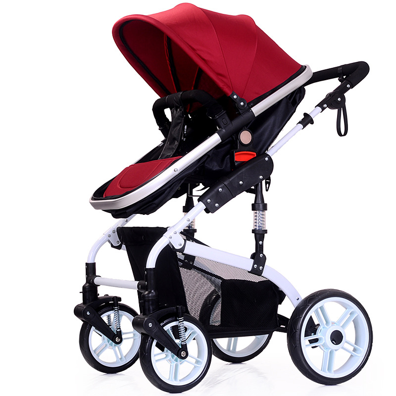 High landscape baby stroller wholesale lying folding buggy cart suspension two-way stroller