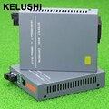 KELUSHI Enternet Convertidor de Fibra Óptica Media Converter 1000 Mbps Gigabit HTB-GS-03 Monomodo De Fibra Óptica Herramienta Puerto SC 20 KM