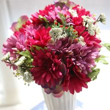 29cm Gerbera  Artificial Wedding Wall Flower Bouquet Decoration Birthday Party Home Garden