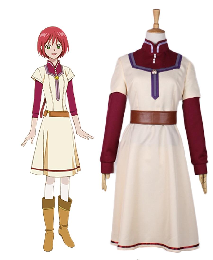 Snow White with the Red Hair Shirayuki Chemist pharmacist Cosplay Costume