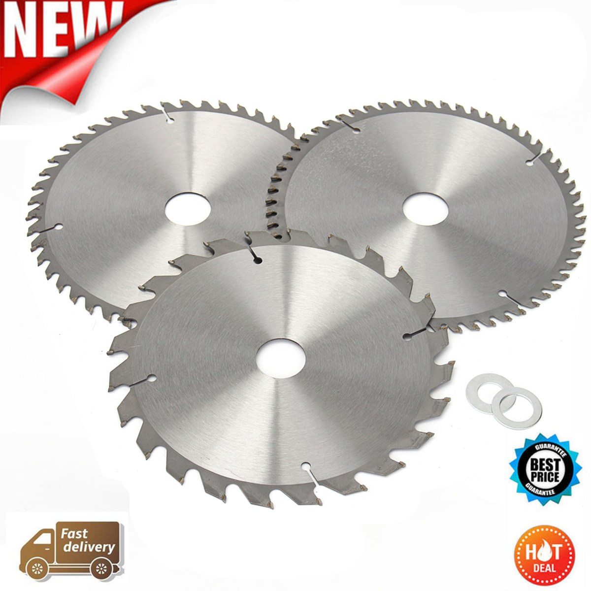 Drillpro 3pcs 210mm TCT 24/48/60T Circular Saw Blade Wood Aluminum Cutting Saw Blades General Purpose For Woodworking Power Tool no 1 twist plaster saws jewelry spiral teeth saw blades cutting blade for saw bow eight kinds of sizes 144 pcs bag