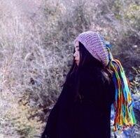 Dread Verrouillage Tricoté Beanie Pur Laine Coloré Perruques Crochet Chapeau D'hiver À La Main Dreadlock Hippie Chapeaux