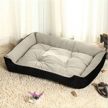 Soft Dog Beds For Large Dogs Berber Fleece Warm Kennel Plush Mat Pet Products Washable Grote Honden Bed