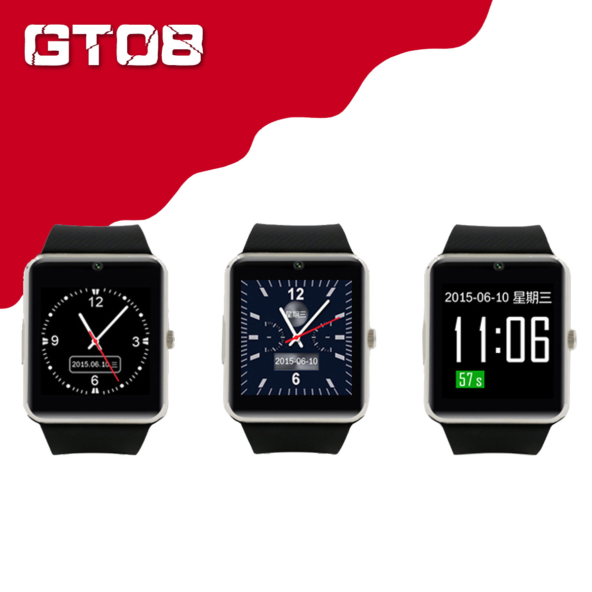 GT08 Smart Watch Bluetooth Smartwatches For Android Smartphones SIM Card Slot NFC Health Watchs for Android with Retail Box in Smart Watches from Consumer Electronics