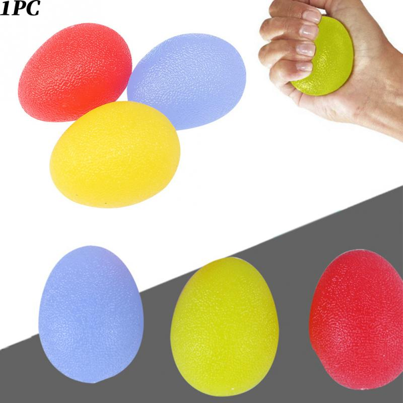 Silicone Egg Massage Hand Gripper Strengths Stress Relief Power Ball Forearm Finger Exercise Fitness Accessories #12 image