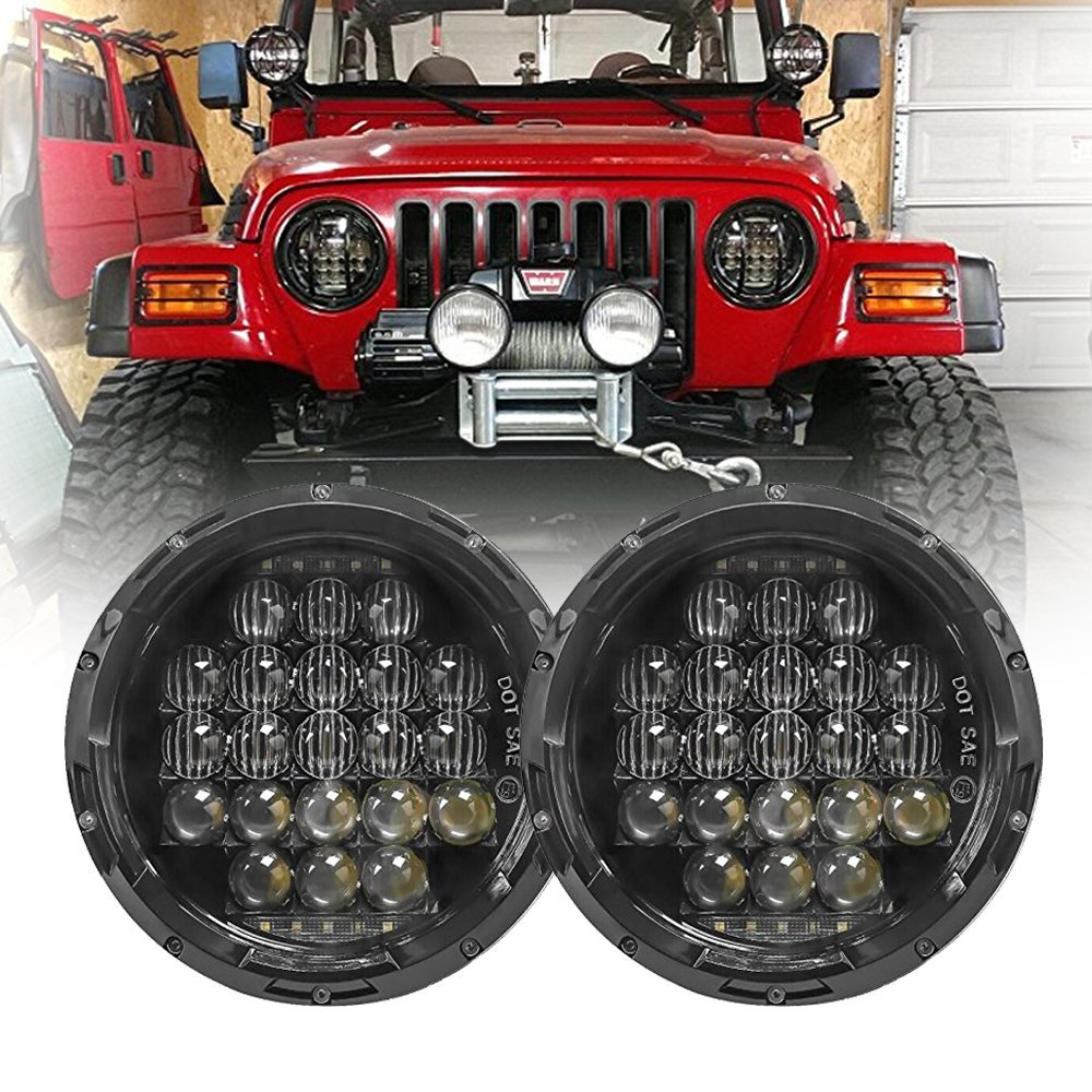 7Inch Round Led Headlight 7 Round LED headlamp Replacement light with white DRL Daymaker For Jeep Wrangler Lada 4x4 urban Niva компрессоры airline компрессор x1 30л мин 7 атм серия standard ca 030 14s