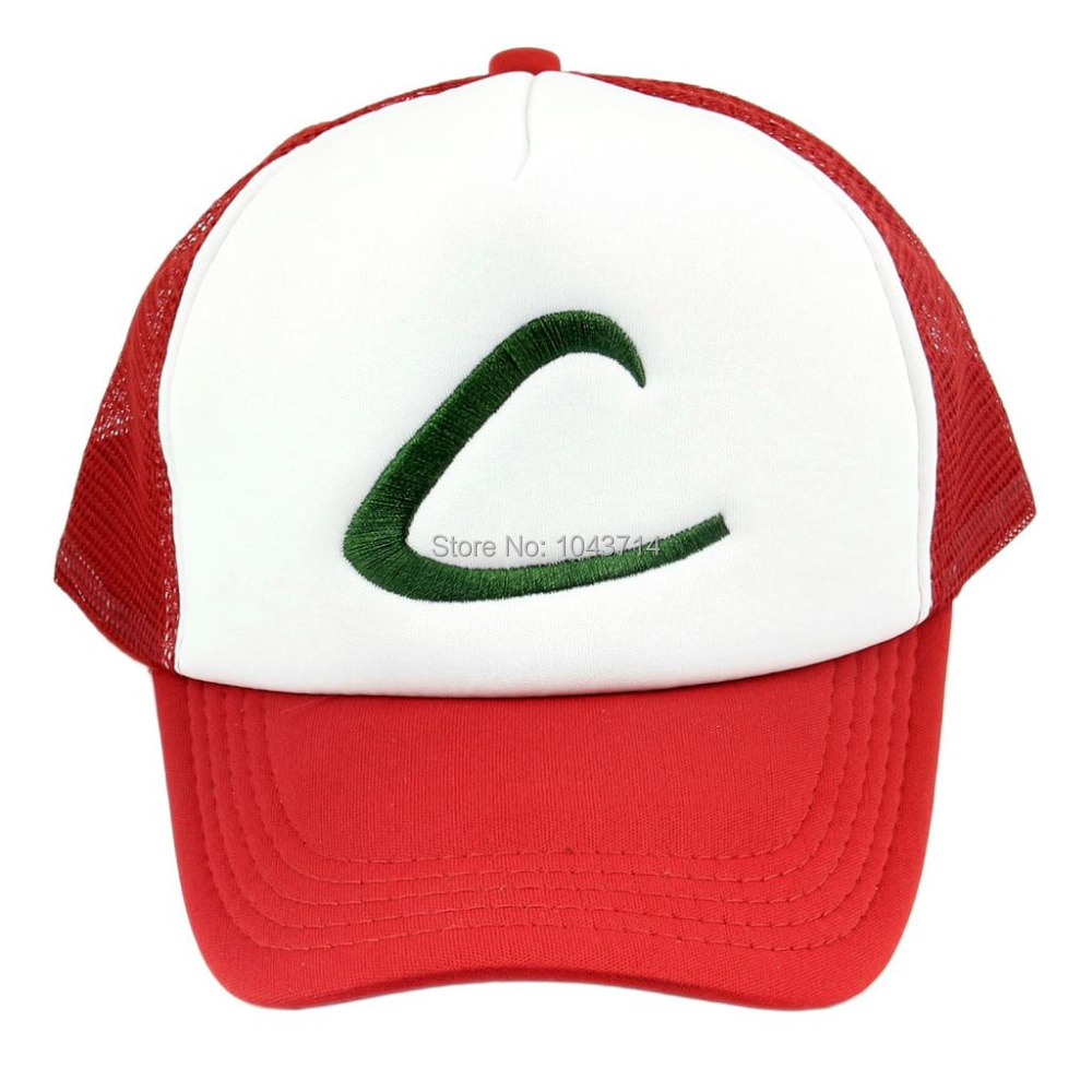 Anime Cospaly Hat Pokemon ASH KETCHUM Visor Cap Costume Play Baseball Hat стоимость