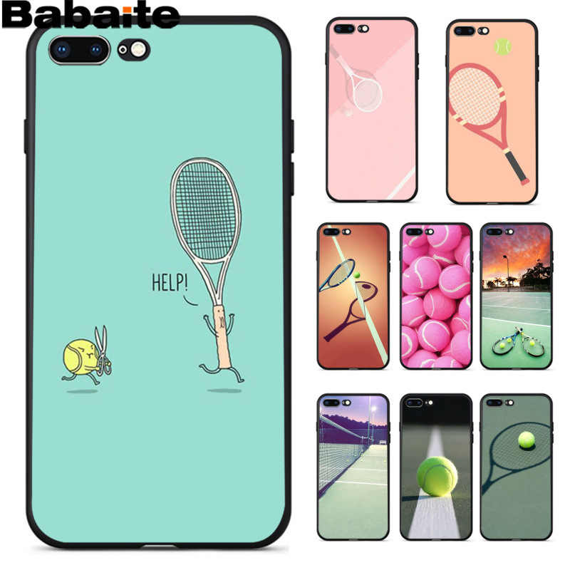 Babaite Sport Tennis Diy Afdrukken Tekening Telefoon Case Cover Shell Voor Apple Iphone 8 7 6 6S Plus X xs Max 5 5S Se Xr Cover