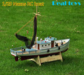 Classic fishing boat model Scale 1/25 NAXOS RC Fishing ship remote control wood boat model kit