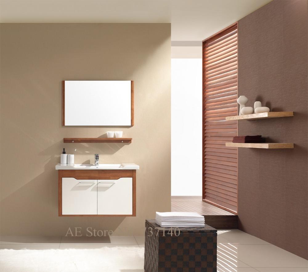 legno massello mobile bagno con lavabo in ceramica a parete bagno vanit mobili agente di acquisto prezzo allingrosso