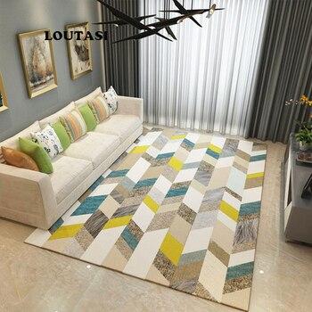 LOUTASI Nordic Stil Geometrische Teppich für Wohnzimmer Anti-Slip Weiche  Kinder Schlafzimmer Boden Matten Fußmatte Große Größe Hause bereich Teppiche