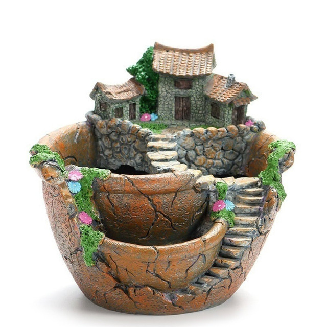 Creative Models Succulent Flower Pot Micro Landscape Resin