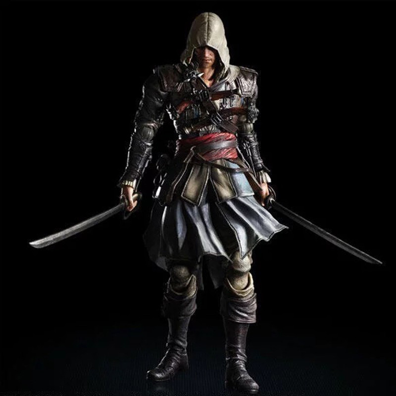 PLAY ARTS Assassins Creed 4 Black Flag Edward James Kenway Playarts PVC Action Figure Model Toy 27cm assassins creed 4 black flag wallet dft 1139