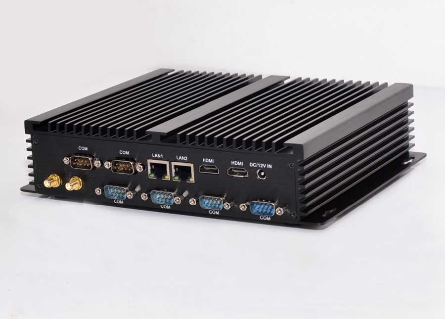 Image 2 - Fanless Industrial Mini PC Win10 Core i3 4010U i5 4200u i7 5550U 2*Intel Gigabit Lans 6*RS232 8*USB Micro Computer 2*HDMI