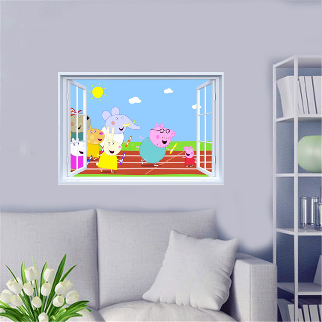 peppa pig wall mural 4K Pictures 4K Pictures Full HQ Wallpaper