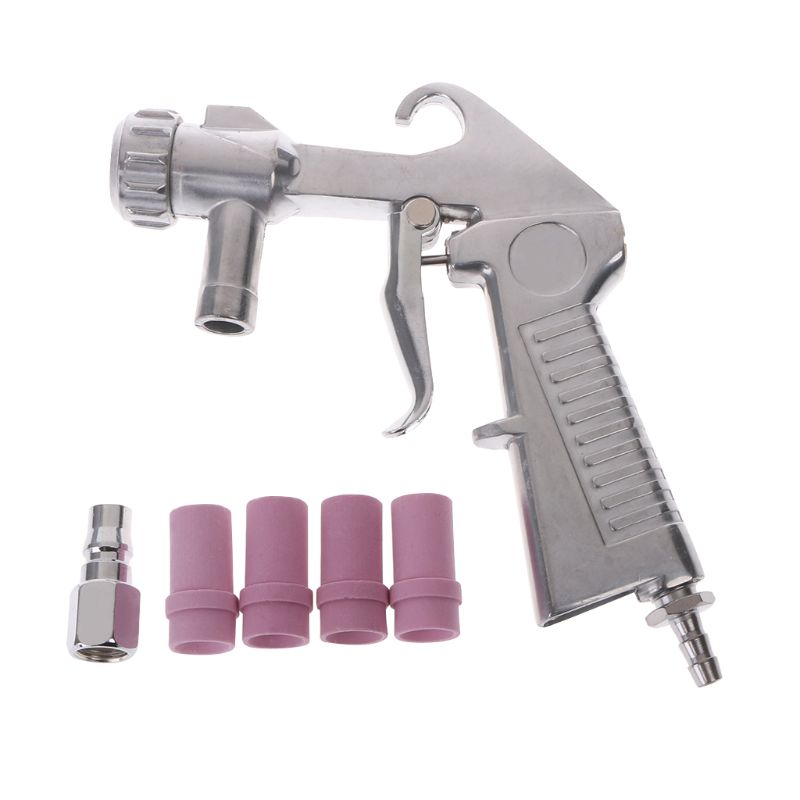 Air Siphon Sandblasting Gun Derusting Polished Abrasive Sandblaster Feed Blast Nozzle Ceramic Tips