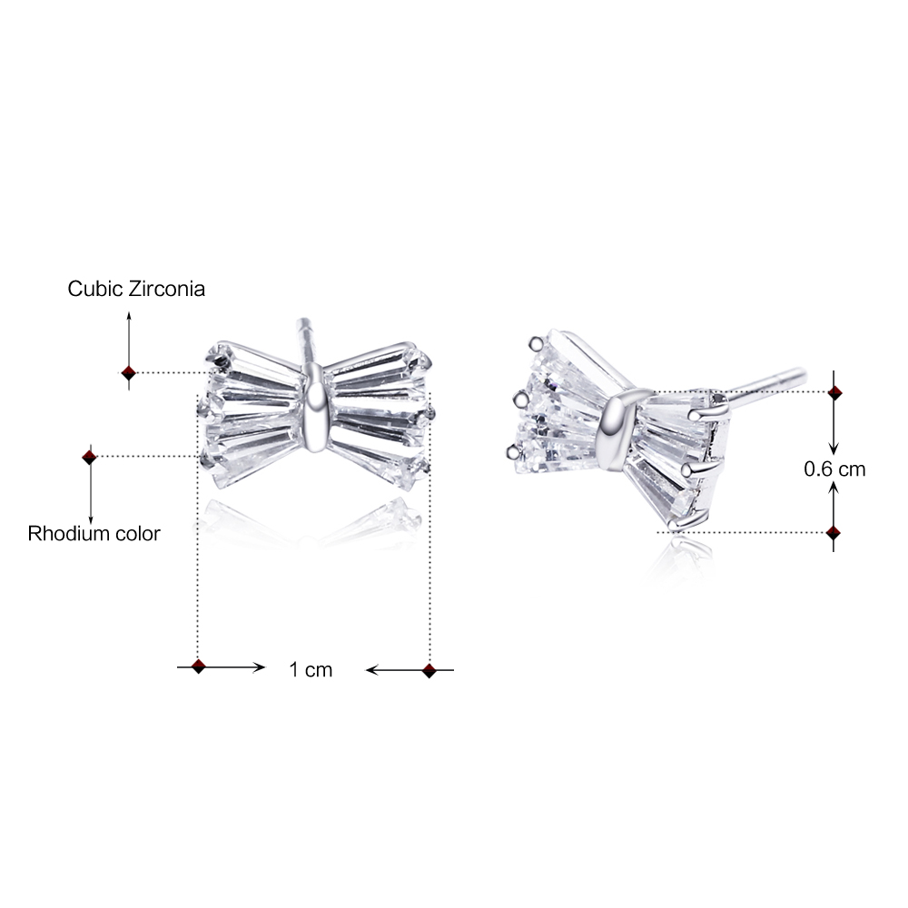small bow silver earrings (5)