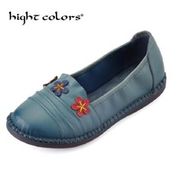 Handmade Genuine Leather Women Flat Shoes Comfortable Women S Shoes Round Toe Anti Skid Large Size