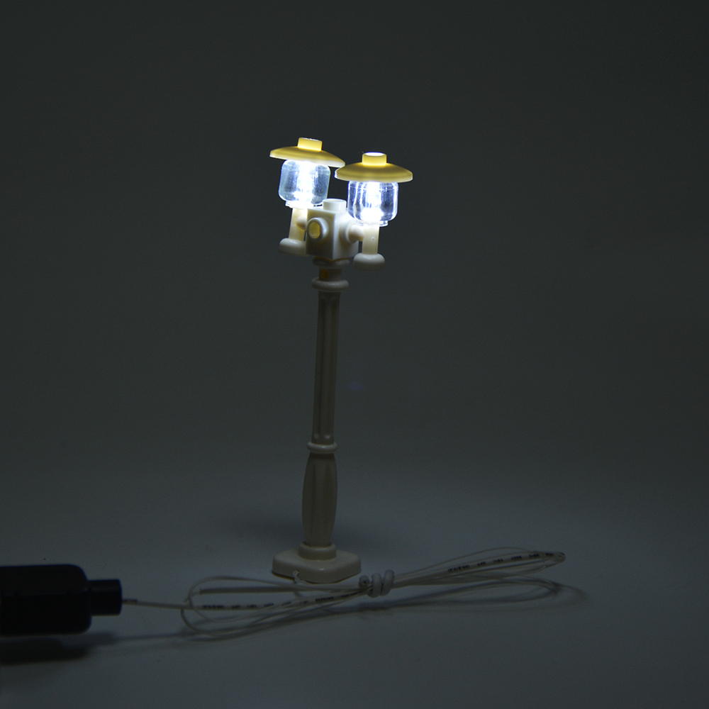 MTELE High Quality DIY Street Light Accessories For City Series Blok - Mainan pembinaan - Foto 6