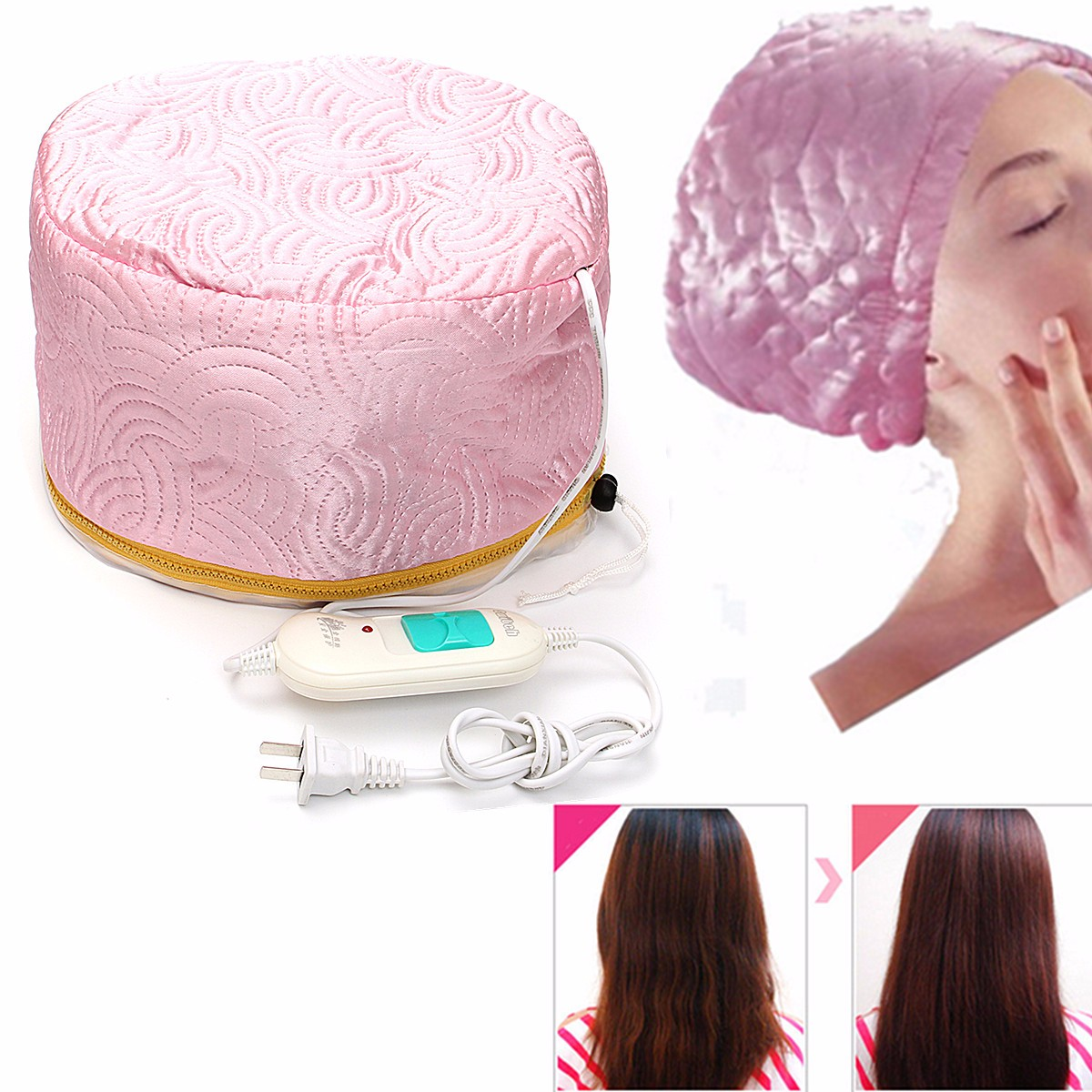 Electric Thermal Treatment SPA Cap Hats Smooth Beauty Steamer Nourishing Hair Cap Bonnet Chauffant Hat Oil Care Skullies Beanies