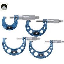 Big discount 4pcs Outside Micrometer Set 0-25mm/25-50mm/50-75mm/75-100mm Metric Carbide Gauge Standards Caliper Tools