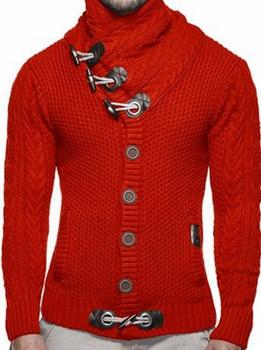 ZOGAA Pullover Pullover Männer 2019 Männlich Marke Beiläufige Dünne Pullover Dicken Horn Schnalle Grobe Wolle Twist Blume Pullover
