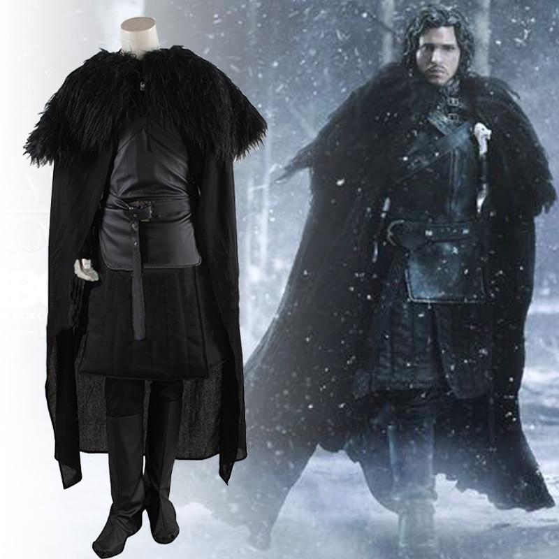 two Style Game of Thrones Costume Jon Snow Cosplay Costume