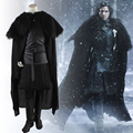 two Style Game of Thrones Costume Jon Snow Cosplay Costume Adult Halloween Costume For Men Carnival leather costume full set