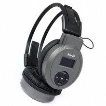 SALUT-FI Pliable Sur-Oreille Casque Sport Lecteur MP3 PC Casque + FM Radio + TF Lecteur de Carte Slot Mp3 écouteurs Casque