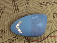 Osmrk blue rear view mirror for Honda City with electric heating, led dynamic side turn signal, anti glaring, bigger vision