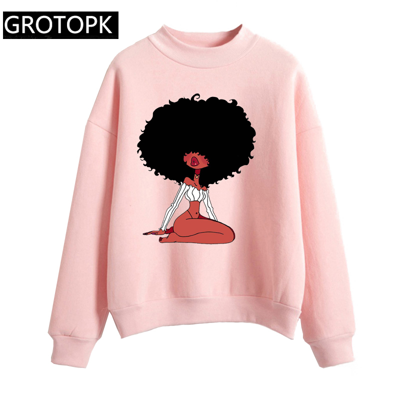 Black Girl Magic Women Sweatshirt And Hoody Ladies Hooded Print Kawaii Gothic Casual Pullover Girls Long Sleeve Autumn Plus Size