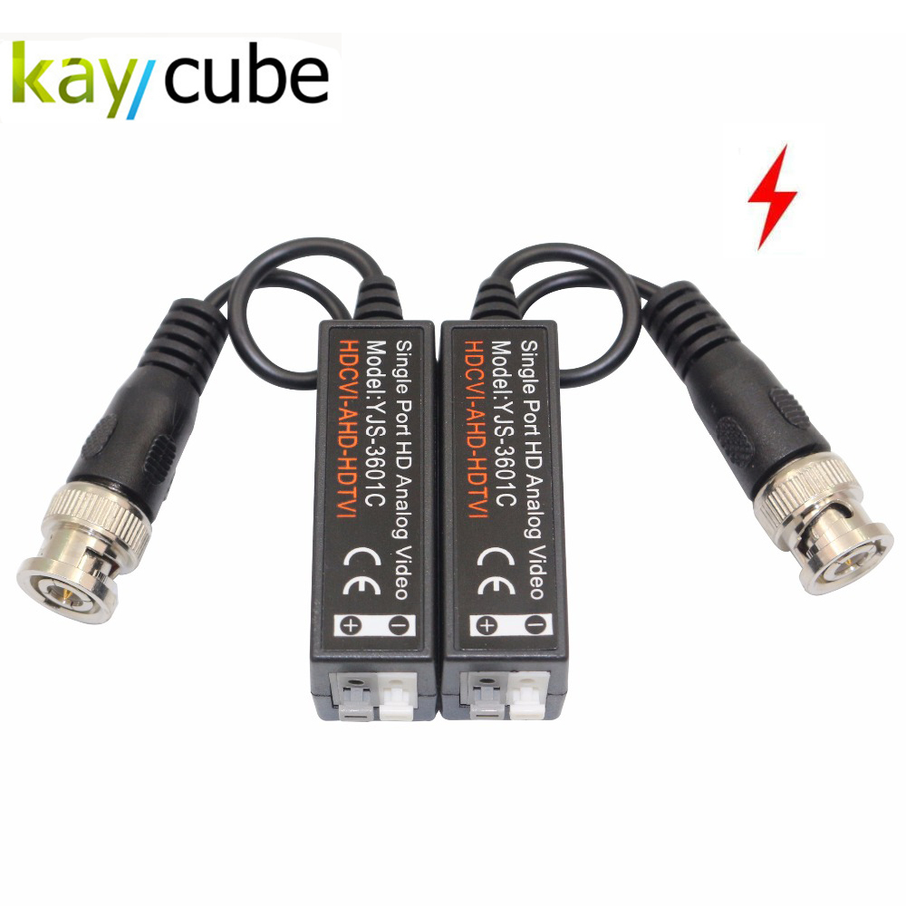 CCTV Professional Manufacturer Supply Video Balun Strong Anti-interference Device Lightning Protection Anti-jammer cctv video anti jamming device effectively suppress the interference caused by a variety of factors for cctv system