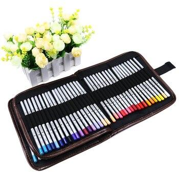 Холщовый пенал для карандашей, 72 слота, цветной чехол для карандашей, держатель рулона, многоцелевой Чехол для школы, искусство, мягкий, для ...