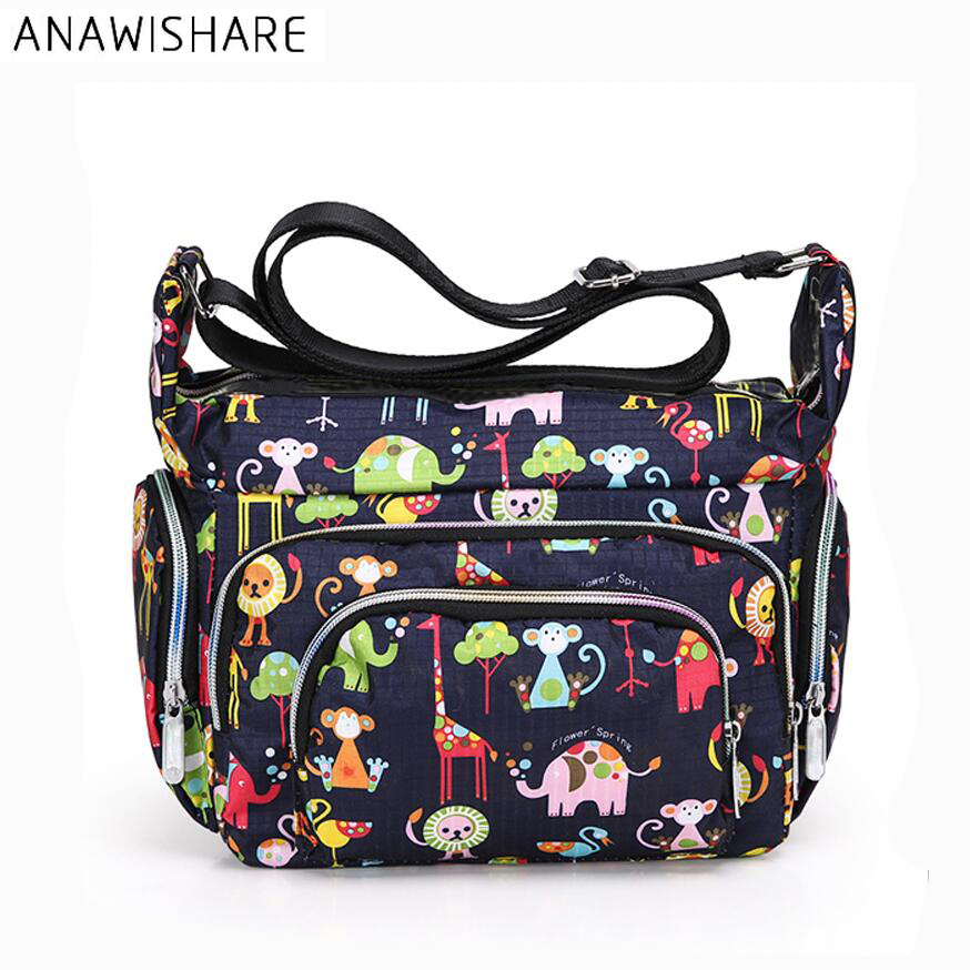 ANAWISHARE Canvas Crossbody Bags Women Messenger Bags Floral Printing Small Shoulder Bag Summer ...