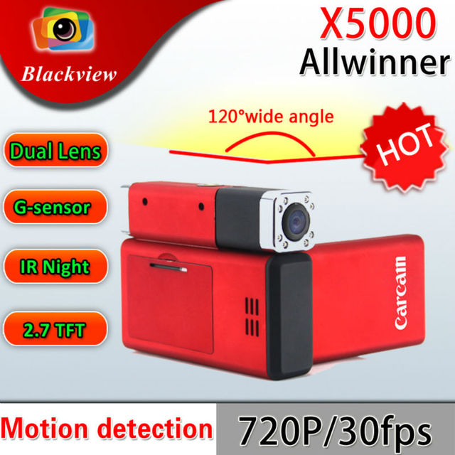 Car BLACK BOX DVR recorder Q8 New Full HD Dual Cameras 1440 x 1080P X5000 carcam Wholesale and Retail Free shipping