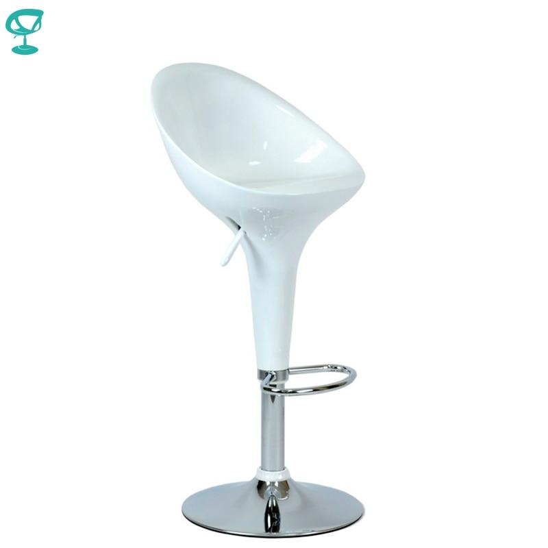 94749 Barneo N-5 дизайнерский пластиковый поворотный кухонный высокий барный стул белый на газ-лифте мебель для кухни кресло для бара белый табуре...