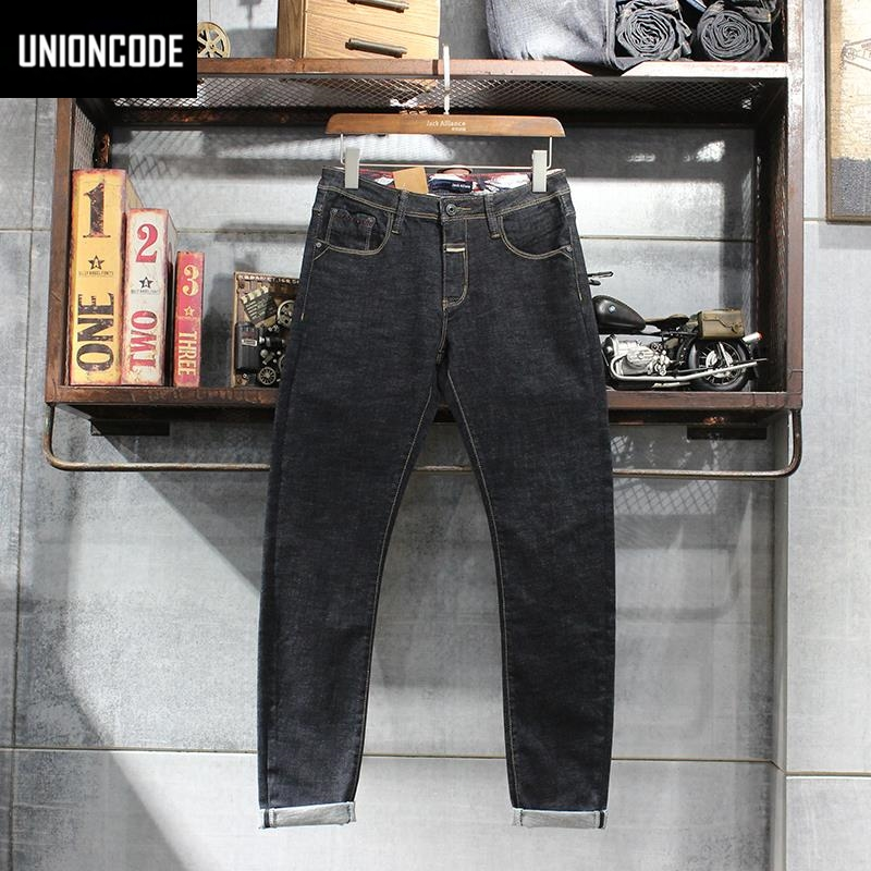 japanese style 2017 autumn basic jeans men clean washing. Black Bedroom Furniture Sets. Home Design Ideas