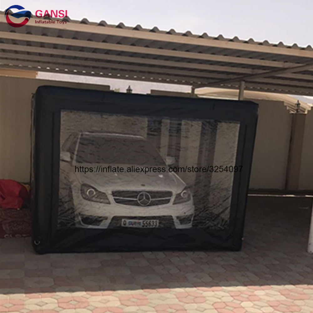 Portable Inflatable Car Capsule Showcase Spray Booth Tent,5*2.8*2m Inflatable Car Cover Tent For Sale