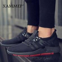 Homens casuais sapatos masculinos malha mocassins respirável deslizamento em apartamentos de alta qualidade sapatos masculinos primavera verão tênis marca xammep
