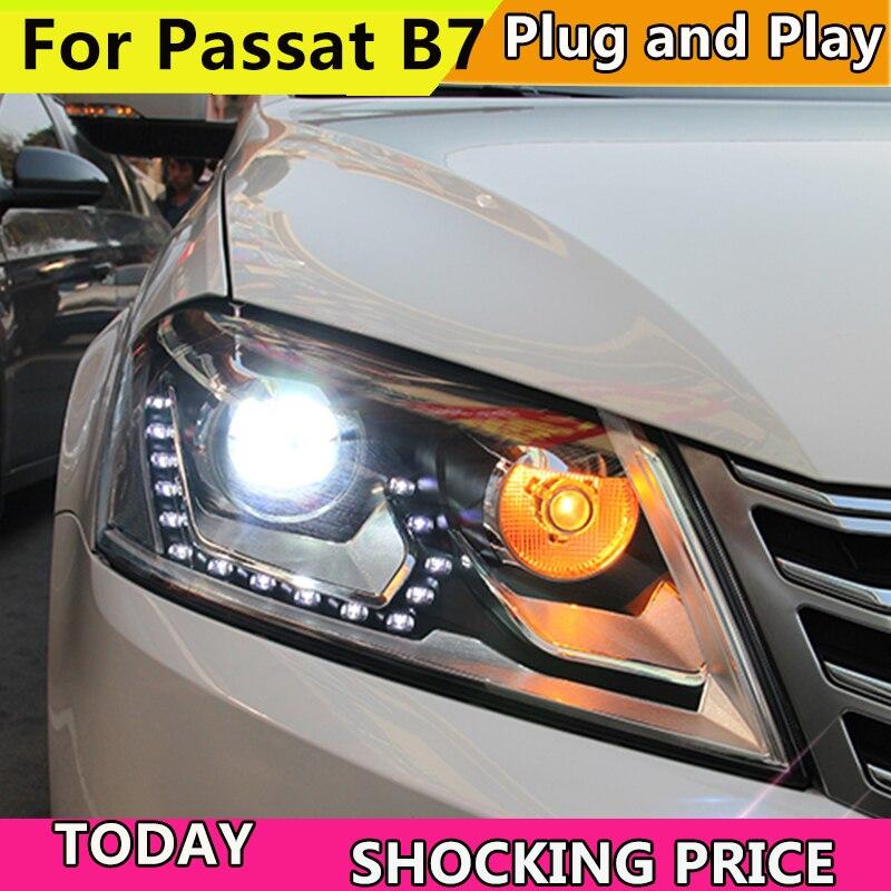 Car Styling for VW Passat B7 Headlights 2012 2016 Magotan LED Headlight DRL Hid Head Lamp