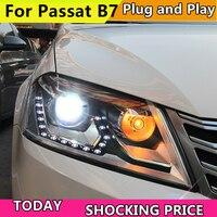 Car Styling for VW Passat B7 Headlights 2012 2016 Magotan LED Headlight DRL Hid Head Lamp Angel Eye Bi Xenon Beam Accessories