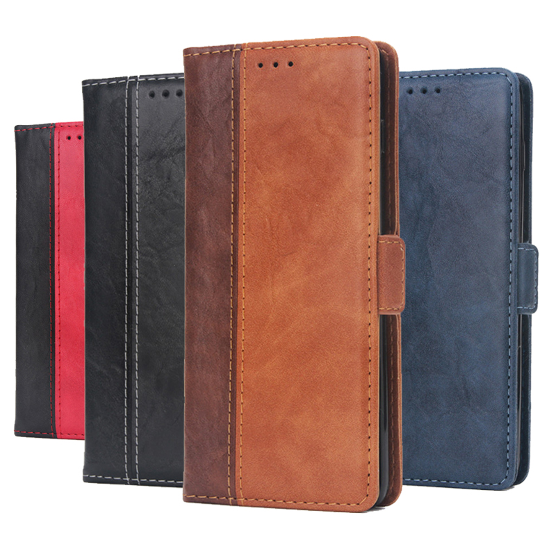 Vintage Leather Flip Wallet Case For Xiaomi Redmi Note 7 Pro Note7pro Note7 6GB 64GB Luxury Card Holder Protective Cover Casing image