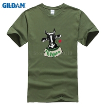 VEGAN cow-design men's t-shirt