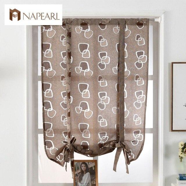 Cocina corto cocina persianas romanas cortinas Jacquard de lujo ...